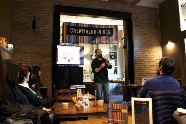 Andrea Pettinelli speech at Creative Mornings