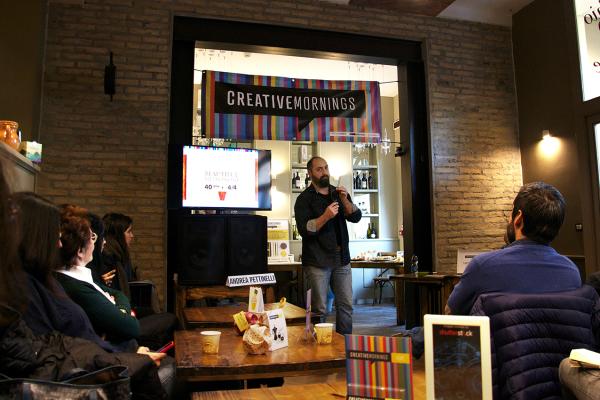 Andrea Pettinelli speech at Creative Mornings